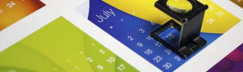 Calendar flat sheet