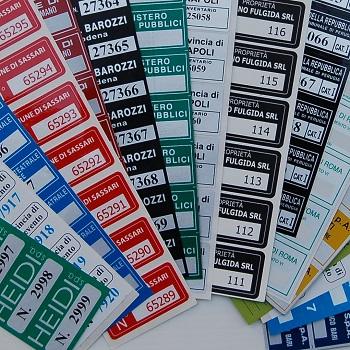 etichette adesive per inventario
